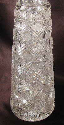 Rare Stunning Antique Baccarat Cut French Crystal Decanter Cane on Cane ca. 1910