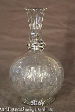 Rare antique early 18th century wine carafe cut glass bottle Georgian decanter
