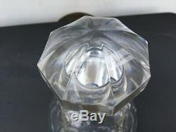 SIGNED BACCARAT decanter French crystal slice cut faceted numbered stopper MINT