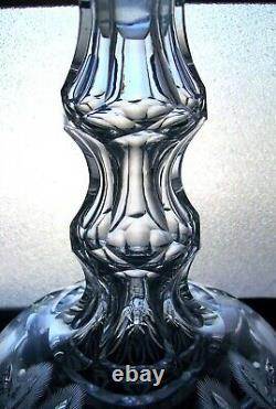 STELLAR DECANTER in PLANET by Monroe withincredible pattern cut stopper EXC COND