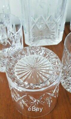 STUART CRYSTAL GLENCOE Decanter and 6 x Large Whisky Glasses