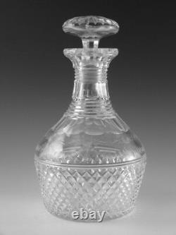 STUART Crystal BEACONSFIELD Cut (Old) Round Decanter 8 1/2 (2nd)