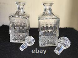 Saint ST. Louis crystal TOMMY SQUARE DECANTER pair of rare Decanters France
