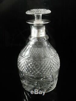 Scottish Silver Mounted Cut Glass Decanter, Glasgow 1920, John Alexander Fettes