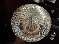 Sharp Diamond Cut Glass Decanter c. 1870-80 English or Poss. Boston & Sandwich