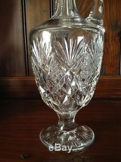Signed Cut Glass St. Louis French Florence Pattern Wine Decanter Nearly 16 tall
