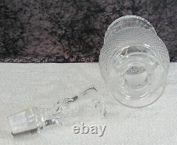 Signed Edinburgh Cut Thistle Crystal Glass 7 7/8 Cordial Decanter Bottle