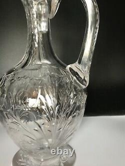 Signed Sinclaire Abp Cut Engraved Decanter