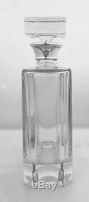 Silver & Glass Rectangular Decanter