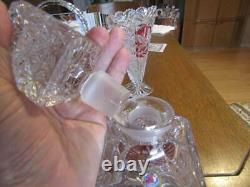 Square Decanter & Stopper 10 Hofbauer Byrdes Germany Lead Crystal Glass Birds