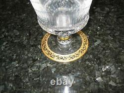 St Louis Crystal Thistle Pattern Decanter Signed Sparkling