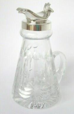 Sterling Silver Whisky Noggin. Hallmarked Whisky Noggin Brierley British Crystal
