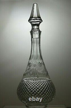 Stuart Crystal Beaconsfield Cut Round Decanter 14(35.5 Cm) Tall