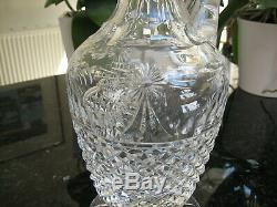 Stuart Crystal Beaconsfield Pattern Claret Jug Wine Decanter