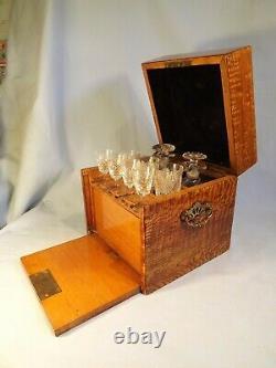Stunning Decanter/Tantalus/Drinks/Cigar Cabinet C1900/10