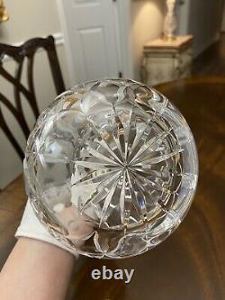 Stunning! Large Heavy Atlantis Cut Crystal Whiskey Liquor Decanter Portugal