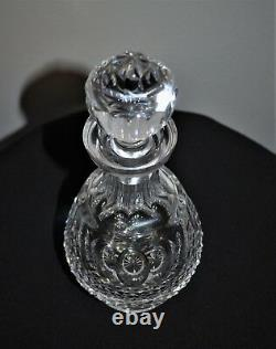 Stunning Waterford Ireland Colleen Cut Glass Footed Brandy Decanter