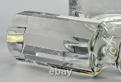 Stylish Crystal Glass Decanter With B&D 925 Sterling Silver Collar