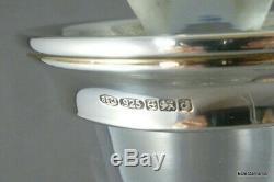 Superb Sterling Silver Mounted Crystal Glass Decanter Modernist Design