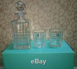 Tiffany & Co. Plaid Decanter & Glasses Set of 3