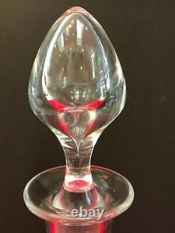 VINTAGE BACCARAT FOOTED CORDIAL PARIS CUT PATTERN 14 TALL DECANTER with STOPPER