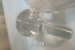 VINTAGE ETHAN ALLEN CRYSTAL WINE DECANTER WithSTOPPER MOUTH BLOWN HAND CUT 24% PBO