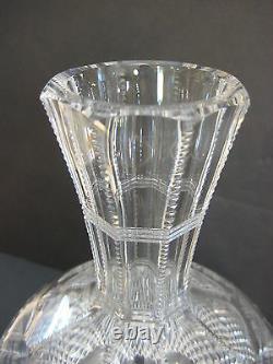 Vintage American Brilliant Cut Crystal Strawberry, Diamond & Fan Carafe
