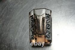 Vintage Art Deco Cut Glass Liquor Decanter / Carafe Set