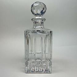 Vintage Atlantis Lisbon Cut Lead Crystal Whiskey Decanter Squares Flutes Stopper