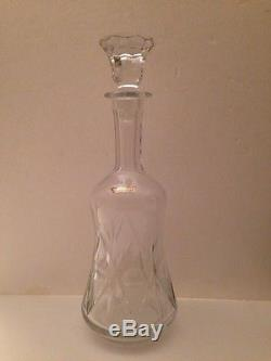 Vintage Cut Crystal Decanter, Pitcher And Stemware