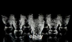 Vintage Cut Glass Decanter and Cordial Liquor Set Elegant