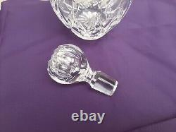 Vintage Diamond Cut Crystal Decanter Solid Silver Collar Charles S Green 1980