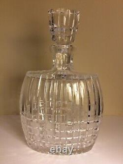 Vintage Led Crystal Hand Cut Glass Cognac Whisky Decanter 9.5 Tall Excellent