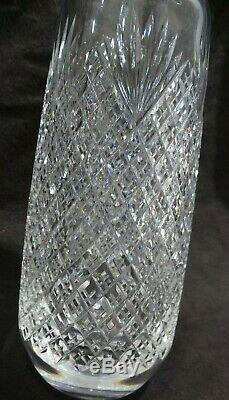 Vintage Signed Hawkes ABP Deep Cut Glass Decanter with Sterling Shot Cup/top