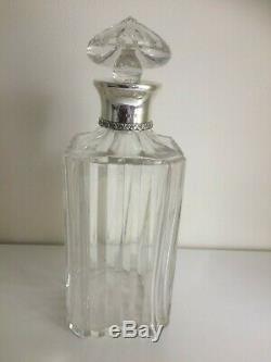 Vintage Sterling Silver & Cut Glass ASPREY Spirit Decanter London 1960