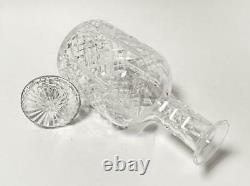 Vintage Stuart England Cut Crystal Decanter Bottle Signed