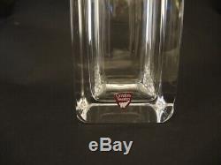 Vintage Tall Orrefors Polished Crystal Spirit Decanter Evard Hald 1933