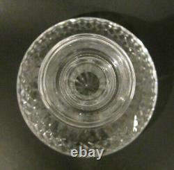 Vintage WATERFORD CRYSTAL LISMORE Irish Cut Glass Captain Ships Decanter 9.75