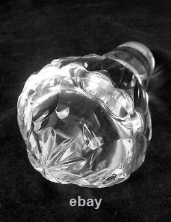 Vintage Waterford Alana full lead hand cut crystal decanter, 12.25 inches