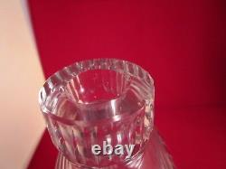 Vintage When Tyred, Scotch Clear Cut Glass Decanter & Stopper Tire Pre-War