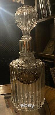 Vintage Whisky decanter Sterling Silver decanter label Hallmarked