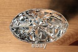 Vintage heavy cut clear 24% lead crystal glass decanter carafe poland polish