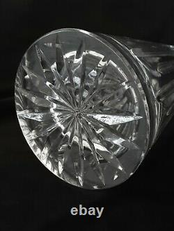 Vintage heavy full lead hand cut crystal decanter, 16 inches