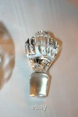 WATERFORD Solid Cut Crystal FOOTED BRANDY DECANTER Lismore