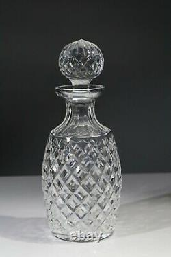 WATERFORD crystal ALANA pattern spirit decanter with stopper gothic etch 10-1/2