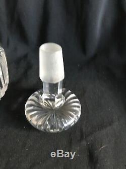 Walsh Crystal Decanter, Silver Top, Hallmarked R. P c1912, 10 1/4 Tall
