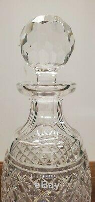 Waterford Castletown Cut Crystal Liquor Decanter With Facetted Stopper