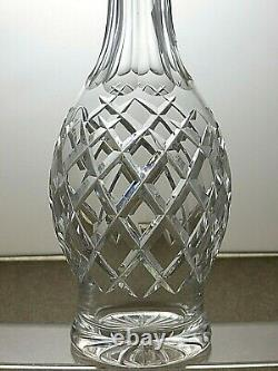 Waterford Crystal Comeragh Cut Round Wine Decanter 13 Tall