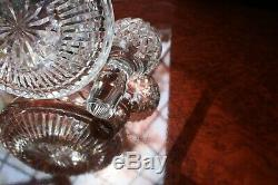 Waterford Crystal Lismore Roly Poly Decanter Undamaged Pristine Stopper 10.3/4