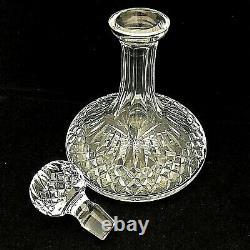 Waterford Crystal Lismore Ships Decanter Cut Base Glass Liquor Barware 9 3/4